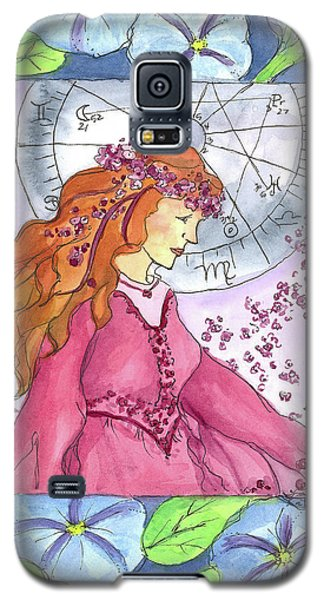 Galaxy S5 Case featuring the painting Virgo by Cathie Richardson