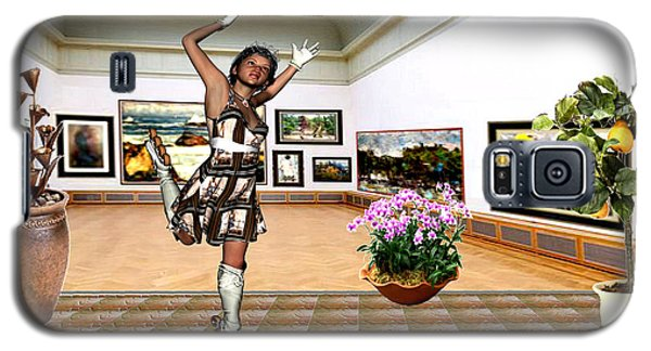 Virtual Exhibition - A Girl With A Pairro Dress Galaxy S5 Case by Danail Tsonev