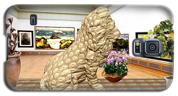 Virtual Exhibition - Statue Of A Lion Galaxy S5 Case