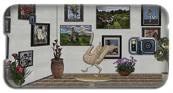 Galaxy S5 Case featuring the mixed media virtual exhibition_Statue of swan 23 by Pemaro