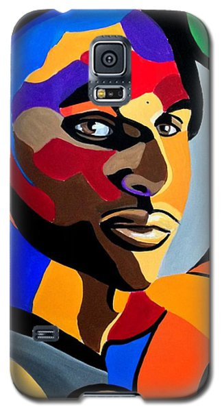 Visionaire, Abstract Male Face Portrait Painting - Illusion Abstract Artwork - Chromatic Galaxy S5 Case