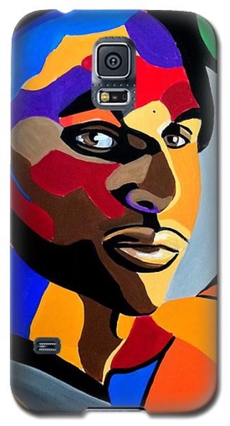 Visionaire - Male Abstract Portrait Painting - Abstract Art Print Galaxy S5 Case
