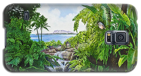 Galaxy S5 Case featuring the painting Visions Of Paradise Ix by Michael Frank