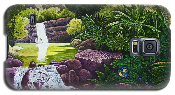 Galaxy S5 Case featuring the painting Visions Of Paradise X by Michael Frank