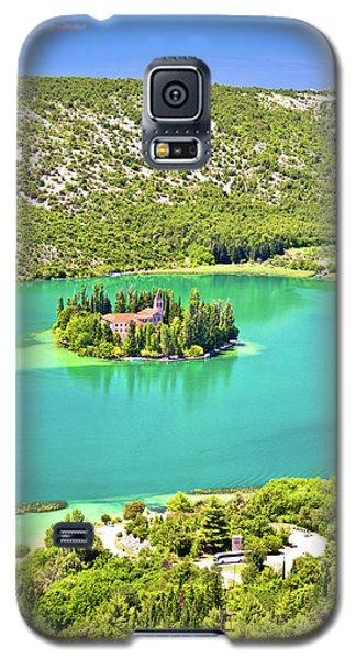 Visovac Lake Island Monastery Aerial View Galaxy S5 Case