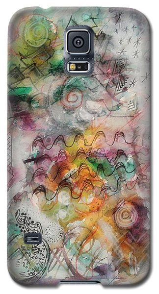 Galaxy S5 Case featuring the mixed media Visual Language by Mimulux patricia no No