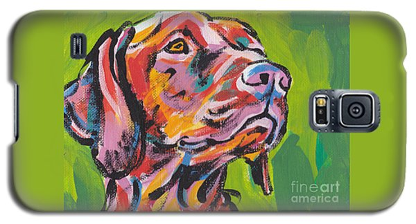 Dog Galaxy S5 Case - Viva La Vizsla by Lea S