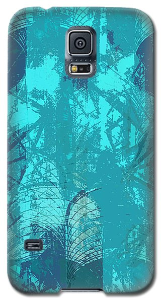 Vivid Blue Seafoam Nyc Water Towers  Galaxy S5 Case by Stan  Magnan