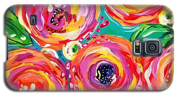 Bright Galaxy S5 Case - Vivid Flora by DAKRI Sinclair