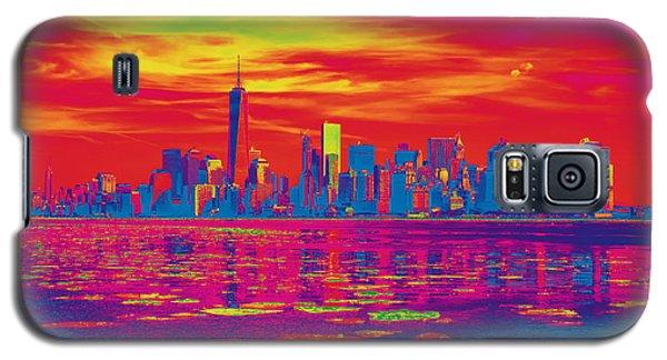 Vivid Skyline Of New York City, United States Galaxy S5 Case