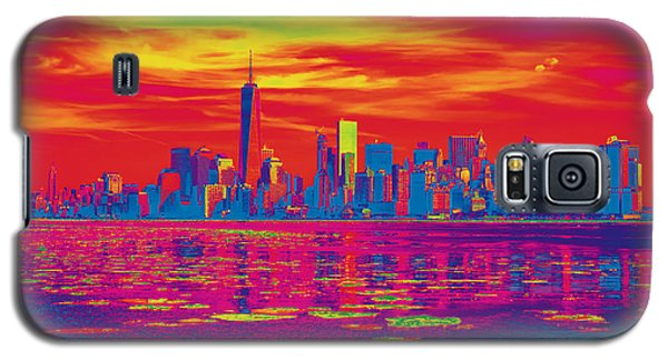Vivid Skyline Of New York City, United States Galaxy S5 Case