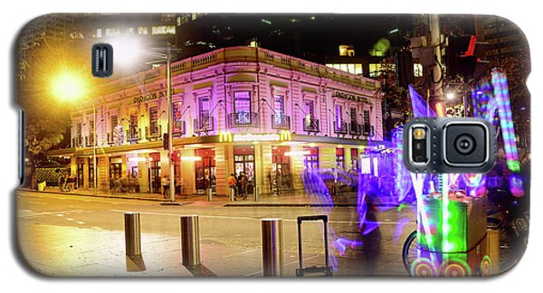 Galaxy S5 Case featuring the photograph Vivid Sydney Circular Quay By Kaye Menner by Kaye Menner