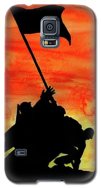 Galaxy S5 Case featuring the painting Vj Day by P J Lewis