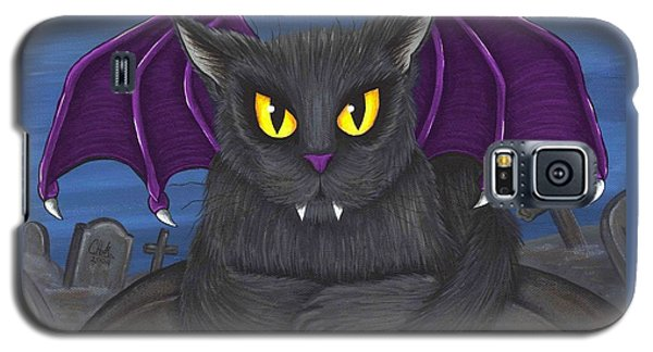 Vlad Vampire Cat Galaxy S5 Case by Carrie Hawks
