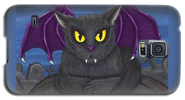 Galaxy S5 Case featuring the painting Vlad Vampire Cat by Carrie Hawks