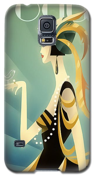 Galaxy S5 Case featuring the digital art Vogue - Bird On Hand by Chuck Staley