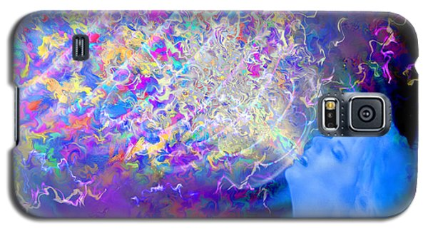 Galaxy S5 Case featuring the painting Voice by Robby Donaghey