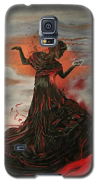 Galaxy S5 Case featuring the painting Volcano Keeper by Melita Safran