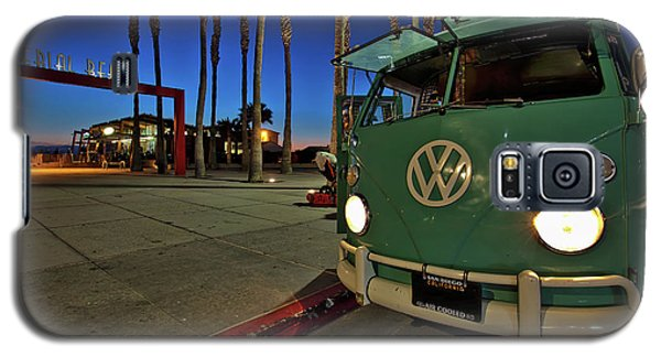 Volkswagen Bus At The Imperial Beach Pier Galaxy S5 Case