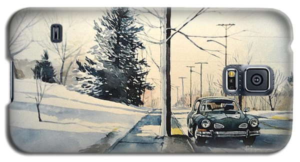 Volkswagen Karmann Ghia On Snowy Road Galaxy S5 Case