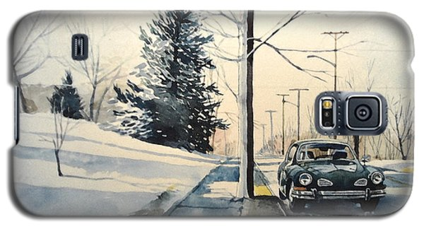 Volkswagen Karmann Ghia On Snowy Road Galaxy S5 Case