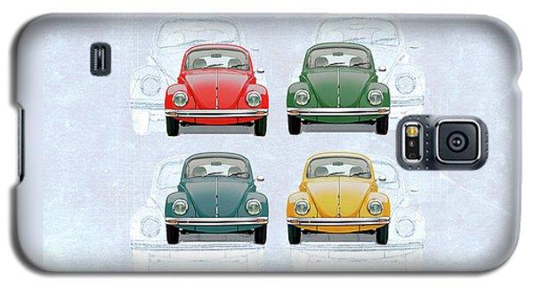 Volkswagen Type 1 - Variety Of Volkswagen Beetle On Vintage Background Galaxy S5 Case