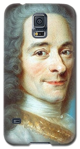 Galaxy S5 Case featuring the painting Voltaire by Pg Reproductions