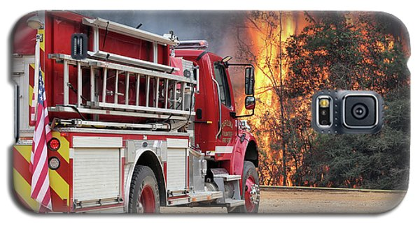 Galaxy S5 Case featuring the photograph Volunteer Firefighters by JC Findley