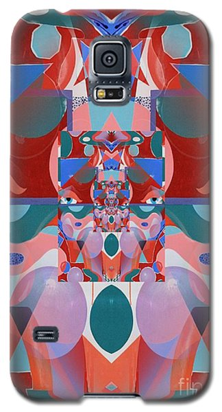 Abstract Vortex In Red Galaxy S5 Case