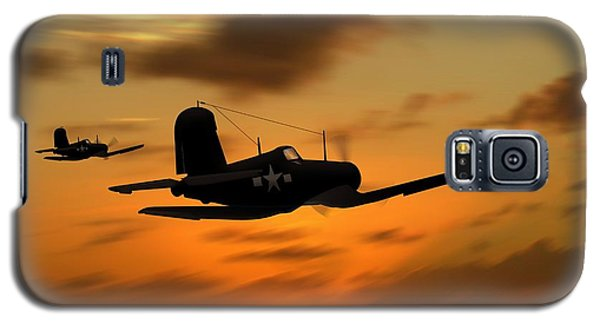 Vought Corsairs At Sunset Galaxy S5 Case by John Wills