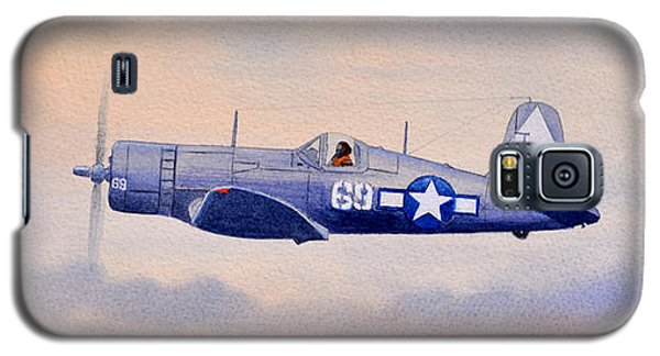 Galaxy S5 Case featuring the painting Vought F4u-1d Corsair Aircraft by Bill Holkham