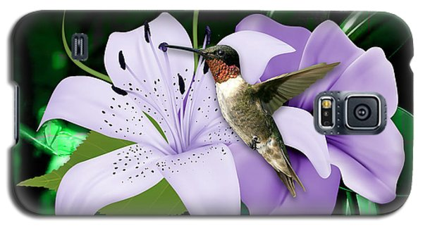 Galaxy S5 Case featuring the mixed media Voyage Hummingbird by Marvin Blaine