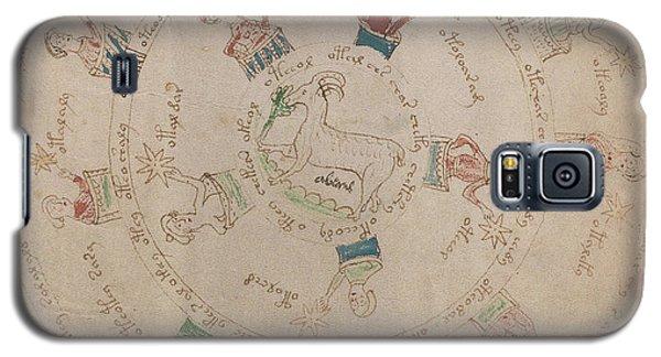 Voynich Manuscript Astro Aries Galaxy S5 Case