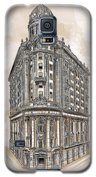 Galaxy S5 Case featuring the painting Wabash Station Pittsburgh, Pennsylvania, Circa 1905 by Andrzej Szczerski