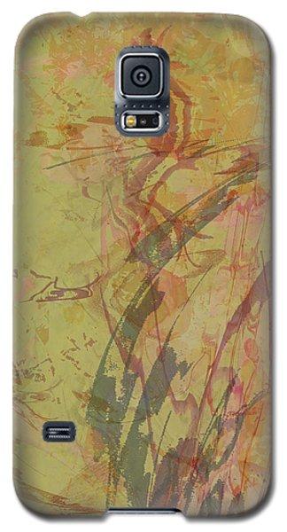 Wabi Sabi Ikebana Rose On Yellow Green Galaxy S5 Case