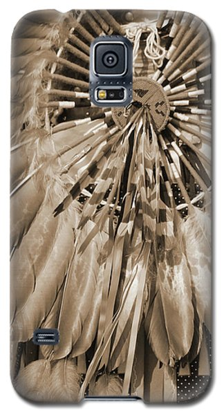 Galaxy S5 Case featuring the photograph Wacipi Dancer In Sepia by Heidi Hermes