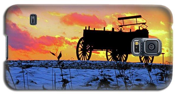 Wagon Hill At Sunset Galaxy S5 Case