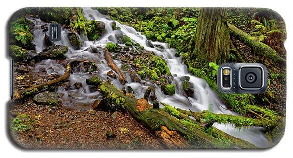 Galaxy S5 Case featuring the photograph Wahkeena Falls by Jonathan Davison