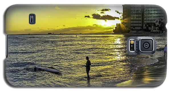 Waikiki Beach At Sunset Galaxy S5 Case