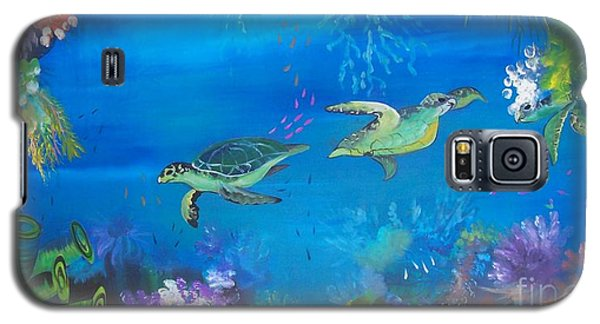 Galaxy S5 Case featuring the painting Wait For Me by Lyn Olsen