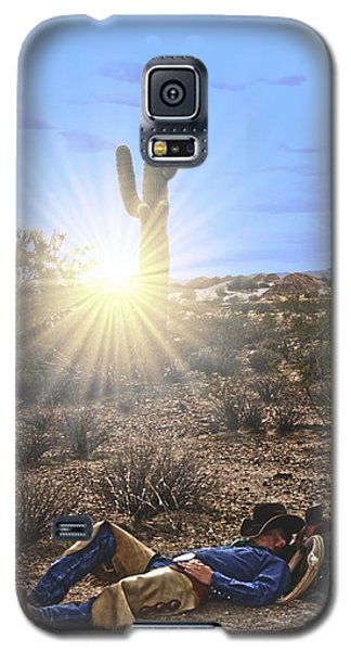 Galaxy S5 Case featuring the photograph Waitin' On A Horse by Amanda Smith