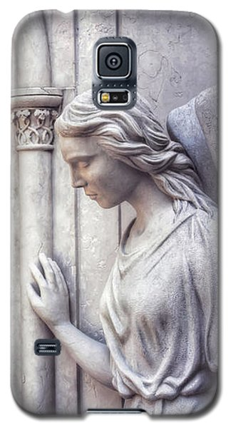 Waiting Angel In Prazeres Lisbon Galaxy S5 Case by Carol Japp