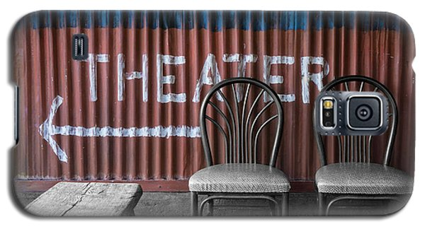 Corrugated Metal Theater Sign Galaxy S5 Case