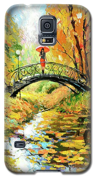 Galaxy S5 Case featuring the painting Waiting by Dmitry Spiros