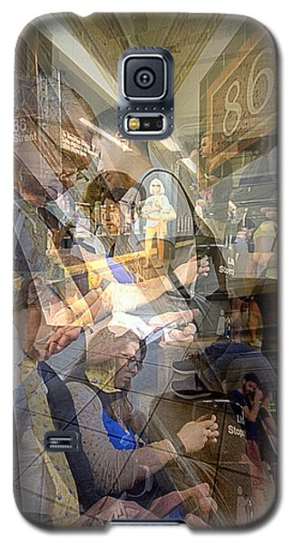 Waiting For 6 Train Collage Galaxy S5 Case by Dave Beckerman