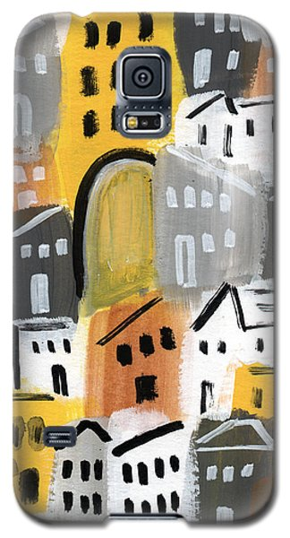 Town Galaxy S5 Case - Waiting For Autumn- Expressionist Art by Linda Woods