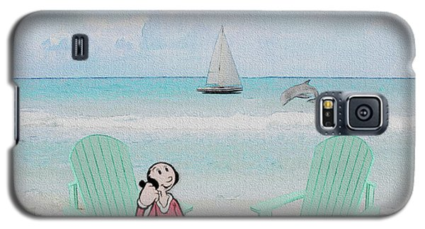 Galaxy S5 Case featuring the digital art Waiting For Popeye by Ericamaxine Price