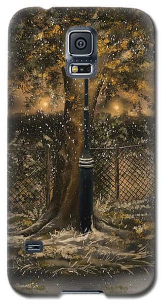 Galaxy S5 Case featuring the painting Waiting For The Snow by Veronica Minozzi