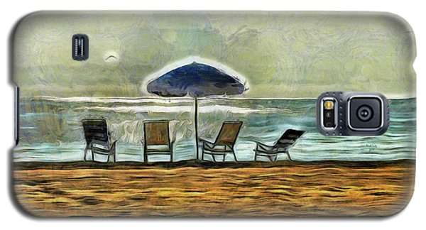 Galaxy S5 Case featuring the mixed media Waiting On High Tide by Trish Tritz