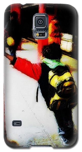 Waiting On The Q Train In Flatbush Galaxy S5 Case by Iowan Stone-Flowers